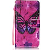 For Samsung Galaxy A5(2016)  A3(2016) Card Holder Wallet  with Stand  Flip  Pattern Case Full Body Case Butterfly Hard PU Leather