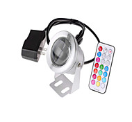 Rgb ac / dc12v 10w nosotros enchufe adaptador regulador ip68 impermeabilizan las luces subacuáticas 1pc