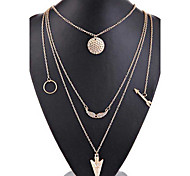 2016 Hot Fashion Arrows Scales Angel Wings Design Necklace Pendant Charm Gold Choker Necklace for Women Exaggerated Jewelry