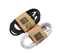 1M USB Sync and Charge Cable for Samsung Galaxy S3 S4 and Others Android Cellphones Black White