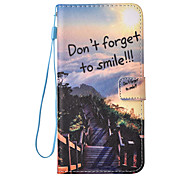 For Huawei Ascend P9 Lite Case Cover Landscape Pattern Painting Card Stent PU Leather Lanyard Phone Case
