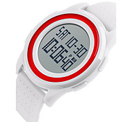 SKMEI Unisex Fashion Sport LCD Double Digital Time Alarm Waterproof Rubber Ultra Thin Watch