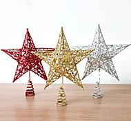 Недорогие -1pcs цвет случайный рождественские украшения подарки роль ofing елочные украшения Рождественский подарок звезда рождества
