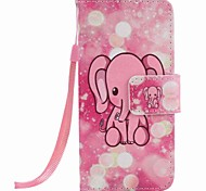 Custodia per cellulare con pittura a elefante rosa per apple itouch 5 6 custodie / cover per iPod