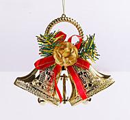abordables -papel 2pcs navidad regalos de la decoración de Navidad ofing adornos del árbol de navidad de regalo colgar actthe papel de campana
