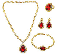 Women's Jewelry Set Rhinestone Wedding Party Daily Casual 1 Necklace 1 Pair of Earrings 1 Bracelet 1 Ring