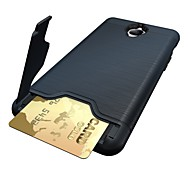 For One Plus 3 3T Card Holder with Stand Case Back Cover Case Solid Color Hard PC