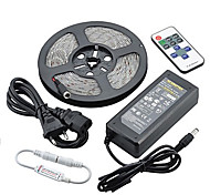 Z®ZDM Waterproof 5M 72W 300SMD 5730 LED Strip Light 11Key Remote Controller Kit 6A Power Supply AC110-240V