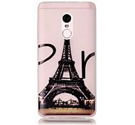 For Xiaomi Redmi Note 4 Pro Glow in the Dark Translucent Case Back Cover Case Eiffel Tower Soft TPU