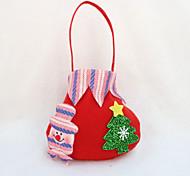 4шт Рождественский подарок мешок конфеты мешок партия поставляет рождества яблока мешок подарка (типа случайная)