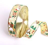 Недорогие -новый 5см * 200см милый снеговик Санта-Клауса рождественские ленты подарочные упаковки ленты украшения рождественской елки поделки