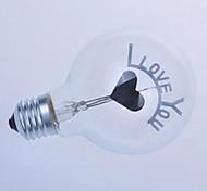 G80 Edison Flame Ball Bubble Love You I Romantic Wedding Bulb