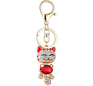 cheap -The New Ornament Set Auger Plutus Cat Pendant Lovely Smiling Face Cat Pendant Car Key Chain Bag