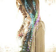 abordables -fibra óptica llevó horquilla pelo de la novia headwear el partido colorized 40cm