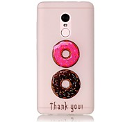 For Xiaomi Redmi Note 4 Pro Glow in the Dark Translucent Case Back Cover Case Sweet Circle Soft TPU