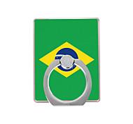 флаг бразильского образца пластиковый держатель кольца / 360 вращающийся для мобильного телефона iphone 8 7 samsung galaxy s8 s7
