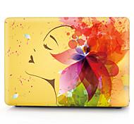 "Case for Macbook 13"" Macbook Air 11""/13"" Macbook Pro 13"" MacBook Pro 13"" with Retina display Flower Plastic Material Yellow Flower Girl Pattern"