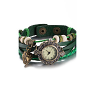 cheap -Women's Fashion Watch Wrist watch Bracelet Watch Quartz Water Resistant / Water Proof Leather Band Vintage Bohemian Bangle Black White