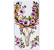 For Case Cover Glow in the Dark IMD Pattern Back Cover Case Other Soft TPU for Huawei Huawei P9 Lite Huawei P8 Lite
