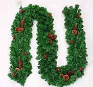 Рождественский венок хвою рождественские украшения для диаметра домашней партии 27см NAVIDAD новых поставок в год