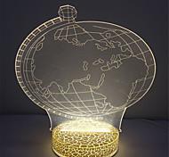 самый лучший подарок мини 3d эффект теплый белый цвет ночной светильник