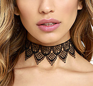 cheap -Women's Lace Choker Necklace Tattoo Choker Statement Necklace - Personalized Tattoo Style Statement Fashion White Black Necklace For