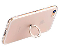 For iPhone 7 iPhone 7 Plus iPhone 6 Case Cover Ring Holder Transparent Back Cover Case Solid Color Soft TPU for Apple iPhone 8 Plus