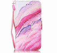 Sand Waves Painting PU Phone Case for apple iTouch 5 6