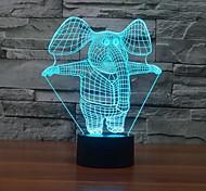 Недорогие -слон сенсорный dimming 3d привело ночь свет 7colorful украшения атмосфера лампа новинка освещение свет