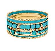 Women's Wrap Bracelet Alloy Simulated Diamond Punk White Dark Blue Red Light Blue Jewelry 1pc