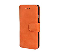 Недорогие -скраб пу кожаный чехол для всего тела с подставкой и слот для карт памяти для iphone 6 (разных цветов)