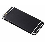 полнометражный черного цвета Кожа PU стикер тела для Iphone 6