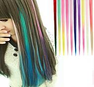 lange synthetische gerade und Clip in Haarverlängerungen mit 1 Clips 10 Farben verfügbar