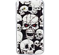 For Case Cover Glow in the Dark IMD Pattern Back Cover Case Skull Soft TPU for Samsung Galaxy J7 (2016) J7 J5 (2016) J5 J3 J3 (2016)
