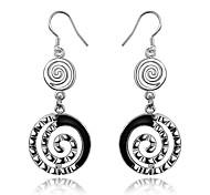Women's Drop Earrings Hoop Earrings Jewelry Sterling Silver Circle Geometric Jewelry For Wedding Party Daily Casual