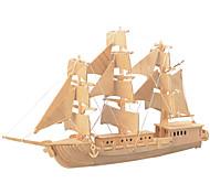 Пазлы Деревянные пазлы Строительные блоки DIY игрушки Боец Корабль 1 Дерево Со стразами Модели и конструкторы