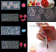 cheap -4 Water Transfer Sticker 3D Nail Acrylic Molds Flower Cartoon Fashion Lovely High Quality Daily