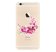 Pink flowers Pattern TPU Soft Case Cover for Apple iPhone 7 7 Plus iPhone 6 6 Plus iPhone 5 SE 5C iPhone 4