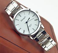 Недорогие -Для пары Кварцевый Наручные часы Горячая распродажа Нержавеющая сталь Группа На каждый день Мода Белый