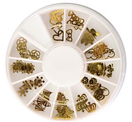 cheap -60PCS Golden Soft Metal Nail Art Decorations Kits
