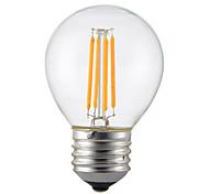 abordables -1 unids 4 w e14 b22 e26 / e27 led bulbos de filamento g45 4 leds cob regulable blanco cálido 300-350lm 2300-2700k ac 110v ac22v