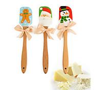 Baking & Pastry Spatole per la torta Silicone Legno Natale Vacanze