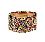 cheap -Women's Rhinestone Alloy Band Ring - Fashion Gold Silver Ring For Party