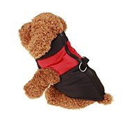 Dog Coat Vest Dog Clothes Keep Warm Solid Red Green Blue Pink Costume For Pets