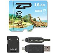 ZP 16GB TF cartão Micro SD cartão de memória UHS-I U1 class10
