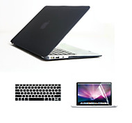 "Case for Macbook Air 13.3"" Solid Color Plastic Material Fashion 3 in 1 Full Body Cases with Keyboard Cover and Screen Protector"