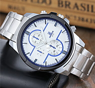 cheap -Men's Quartz Wrist Watch Sport Watch Casual Watch Stainless Steel Band Casual Dress Watch Fashion White