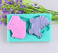 Недорогие -автомобильные и детские коляски помадные торт шоколадный силиконовые формы, формы для выпечки украшения инструменты
