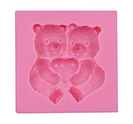 cheap -Valentine's Gift Cute Bear Fondant Silicone Mold Cake Chocolate Candy Bakeware SM-030
