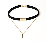 cheap -Women's Choker Necklace Tattoo Choker Long Necklace Layered Necklace - Tassel Basic Multi Layer Fashion Circle Necklace For Party